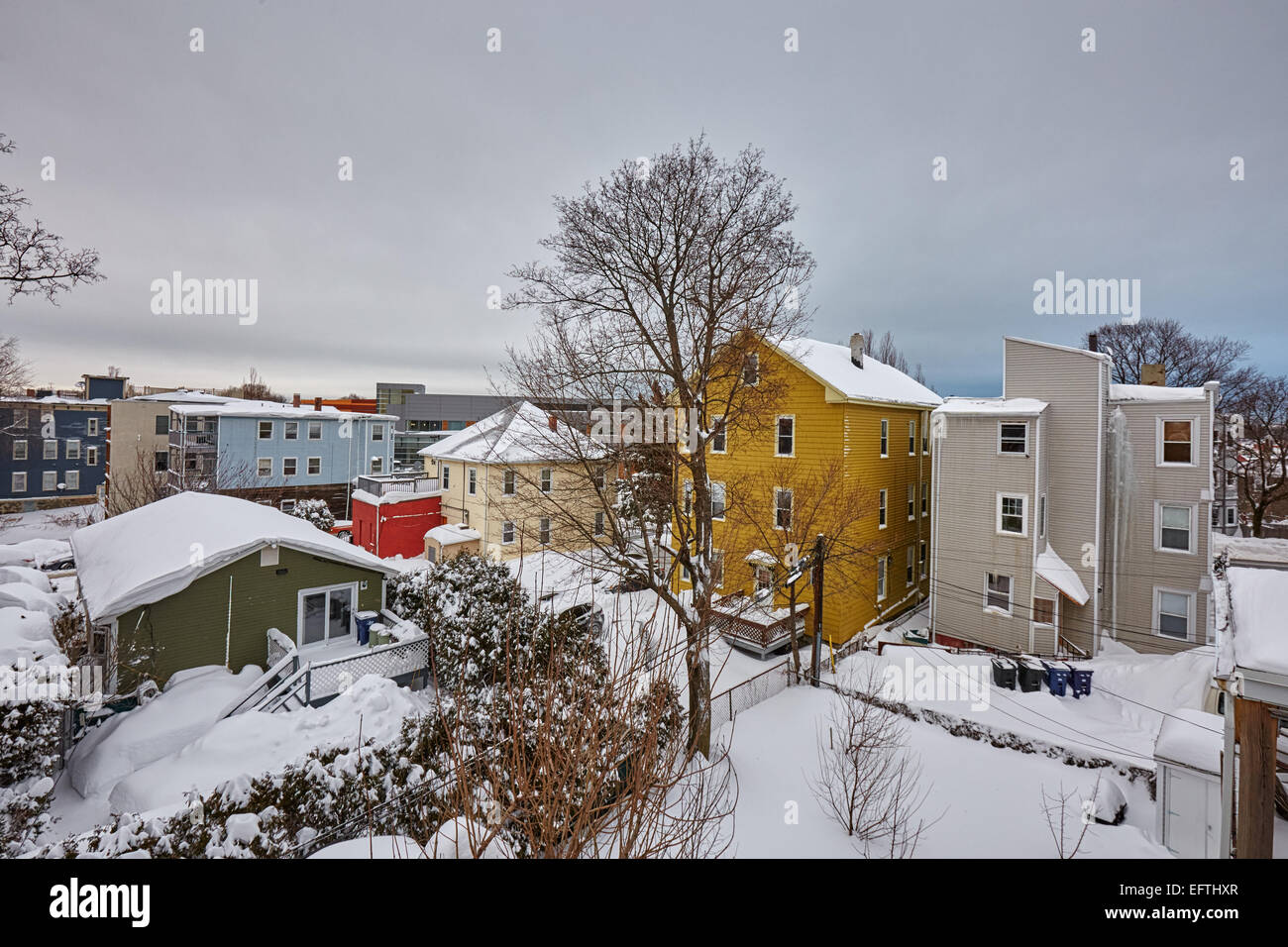 Boston, MA, US. 10th February, 2015. Aftermath of Snow storm Marcus - Stock Image