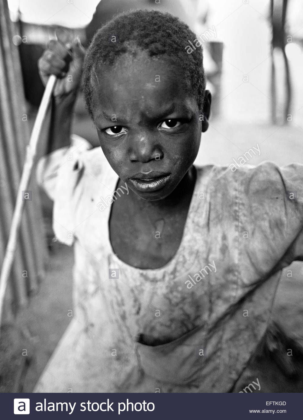Scared Little Boy At The Border Of North Sudan People Person Headshot Head And Shoulders Face Portrait Central African Stock Photo