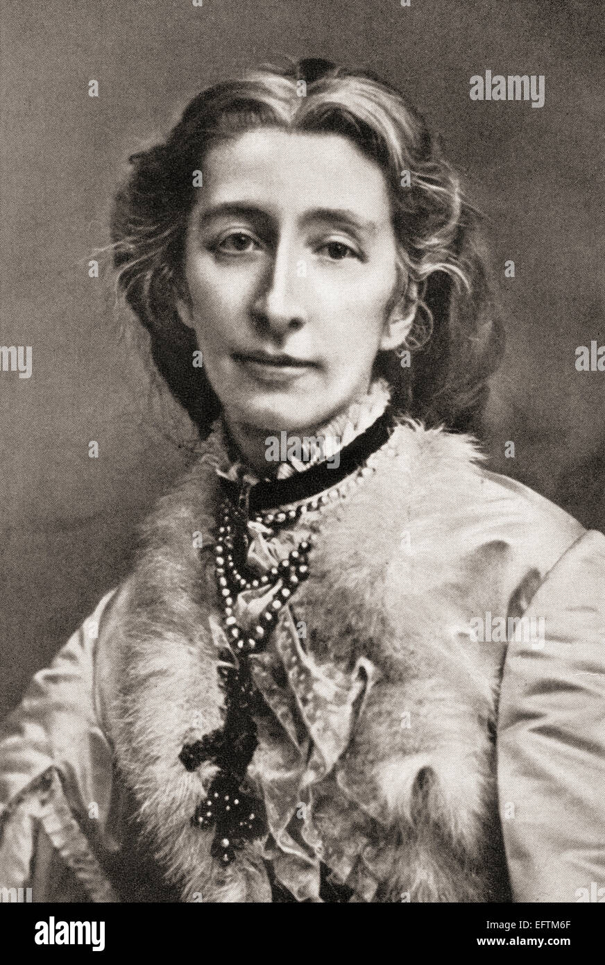 Cosima Wagner, born Francesca Gaetana Cosima Liszt, 1837 – 1930.  Daughter of the Hungarian pianist and composer - Stock Image