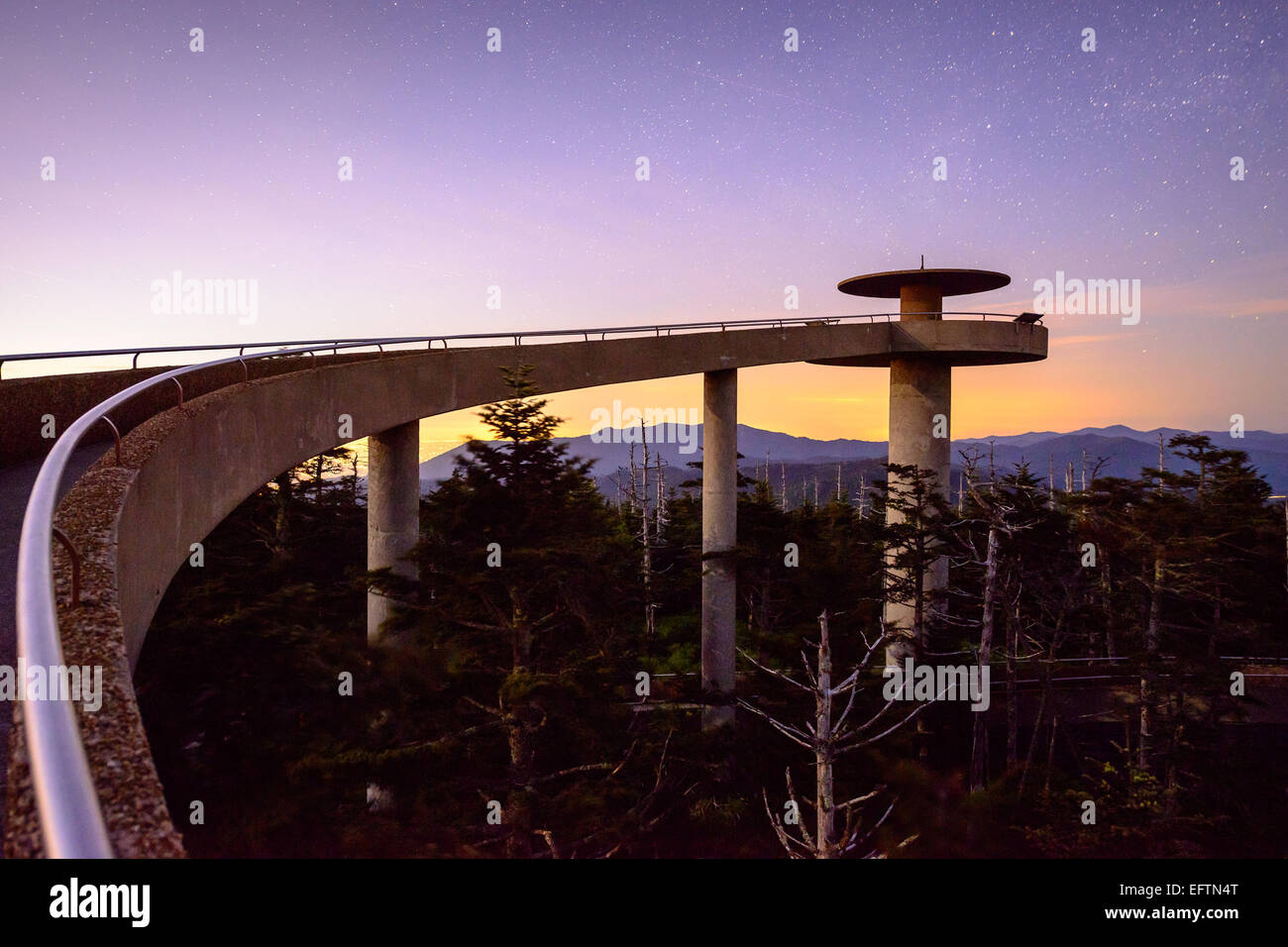 Clingman's Dome in the Great Smoky Mountains of Tennessee. - Stock Image