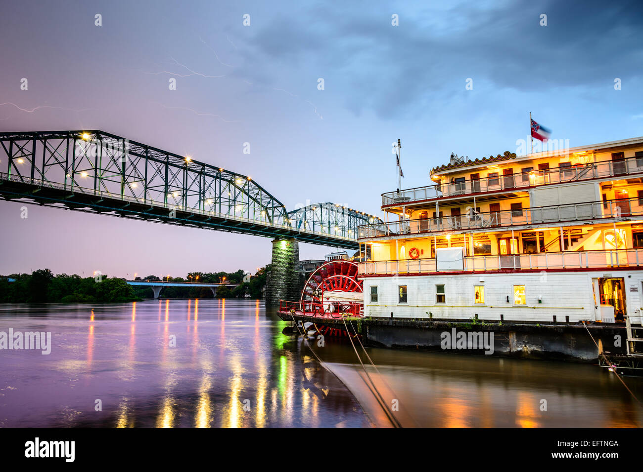 Chattanooga, Tennessee, USA on the Tennessee River. - Stock Image