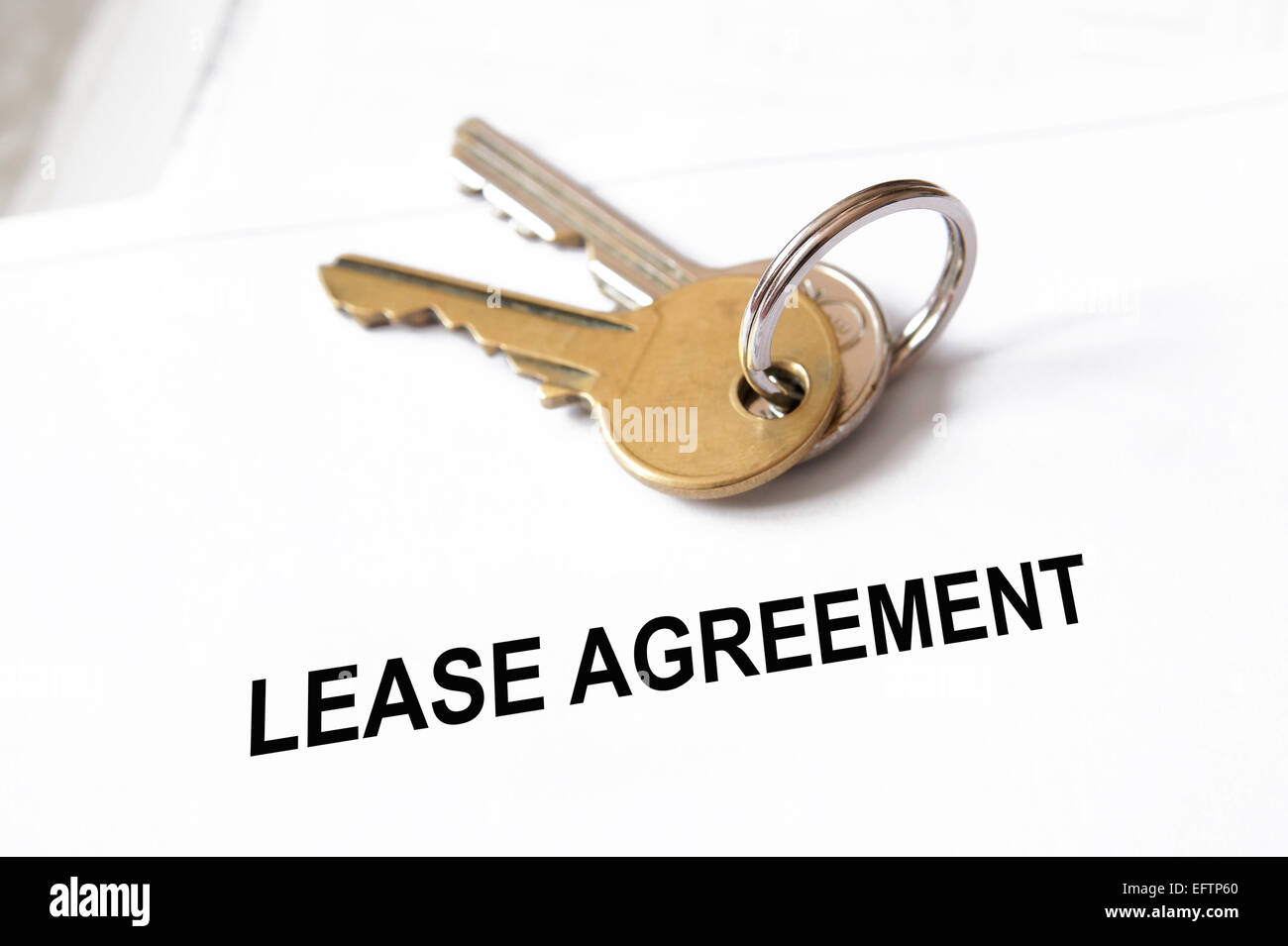 lease agreement - Stock Image