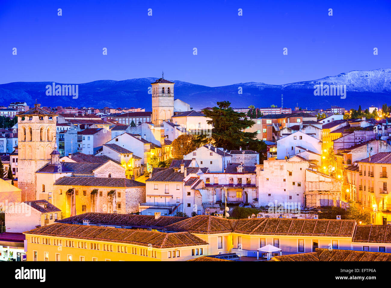 Segovia, Spain old town cityscape. - Stock Image