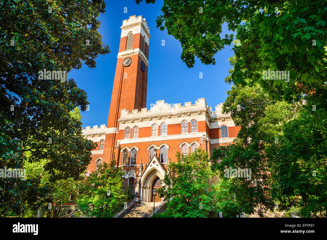 Campus of Vanderbilt University in Nashville, Tennessee. - Stock Image