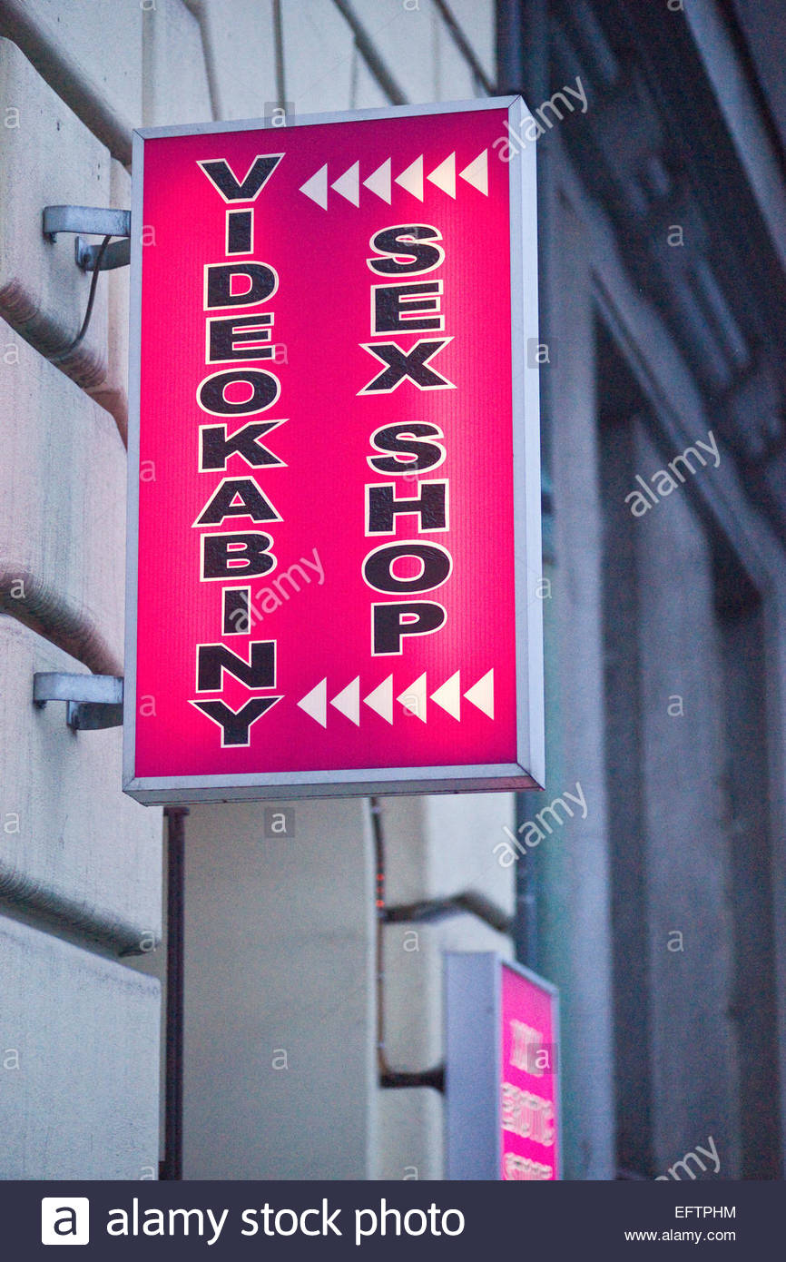 Sex Shop Video Cabin Industry Prague Czech Republic Europe Nobody Store Shopping Advertising Advert