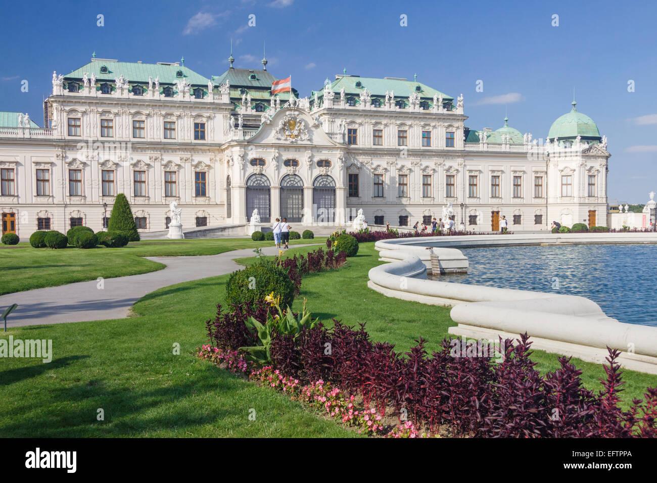 Baroque Upper Belvedere palace. Vienna, Austria - Stock Image