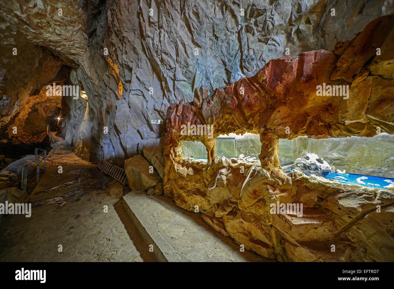 Italy Friuli Venezia Giulia Antro A village near Pulfero in the province of Udine The cave of San Giovanni d'Antro - Stock Image