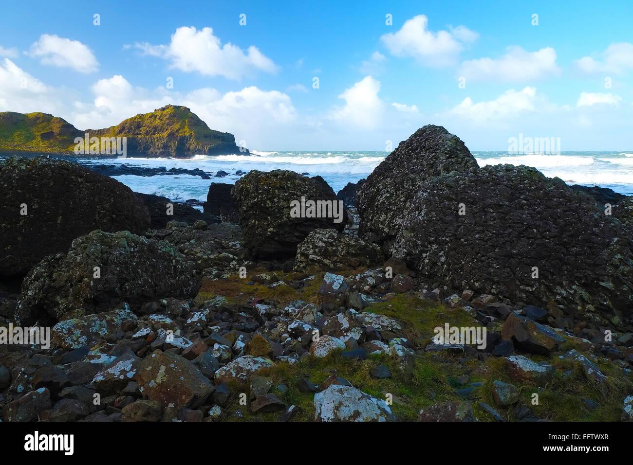 View Giant's Causeway Northern Ireland Stock Photo