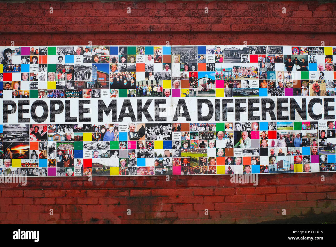 People make a difference - Stock Image