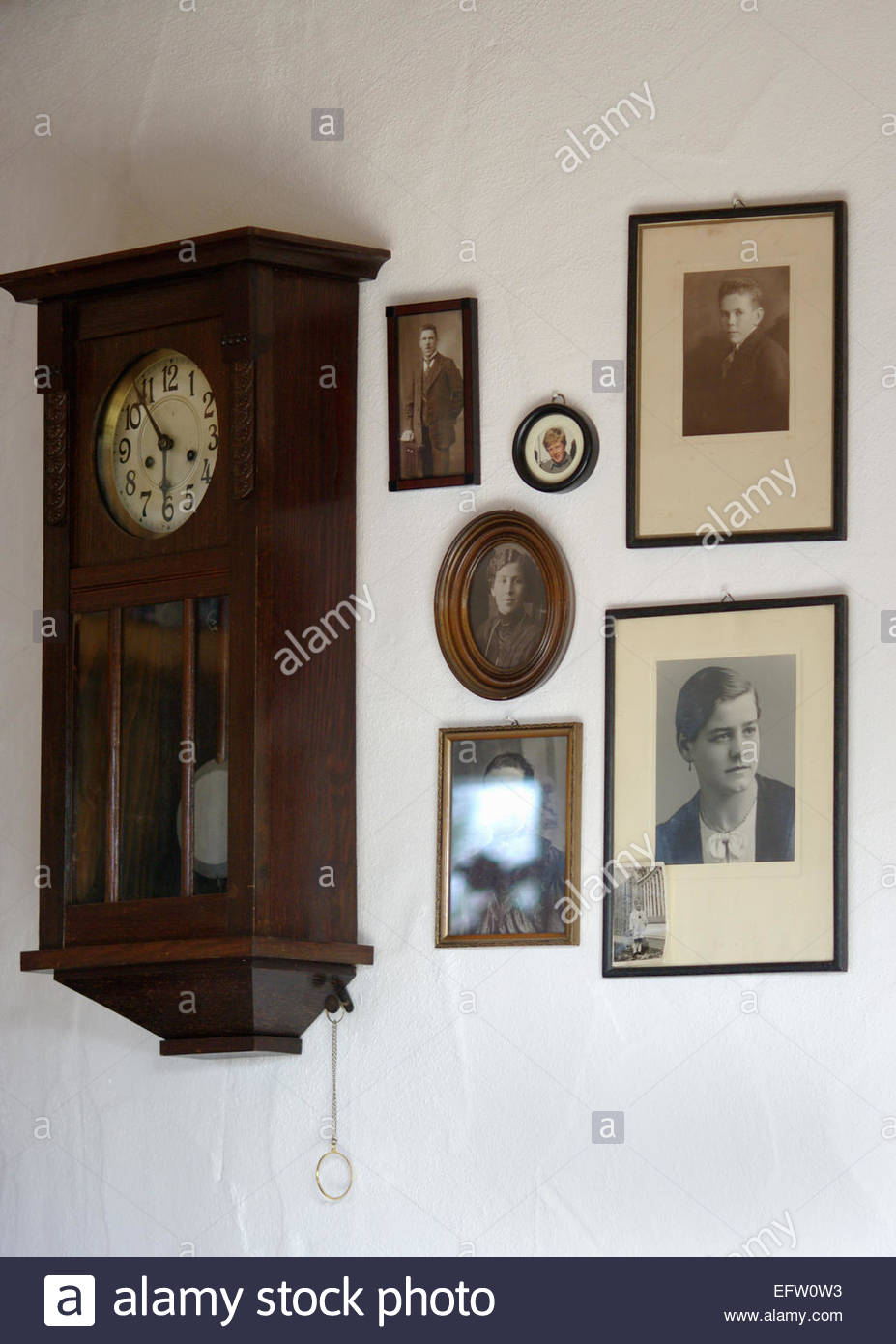 Grandfather Clock Old Framed Photographs Memories Wall Picture ...