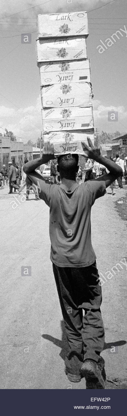 EthipoiaEthiopia - Federal Democratic Republic of Ethiopia ET ETH 2000 Gondar Or Gonder City Ethiopian Highlands - Stock Image