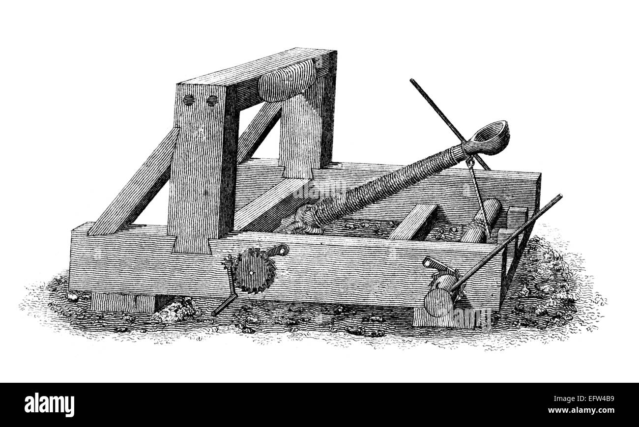 Catapult Black And White Stock Photos Images Alamy Motion Diagram Onager Victorian Engraving Of A Medieval Digitally Restored Image From Mid 19th Century