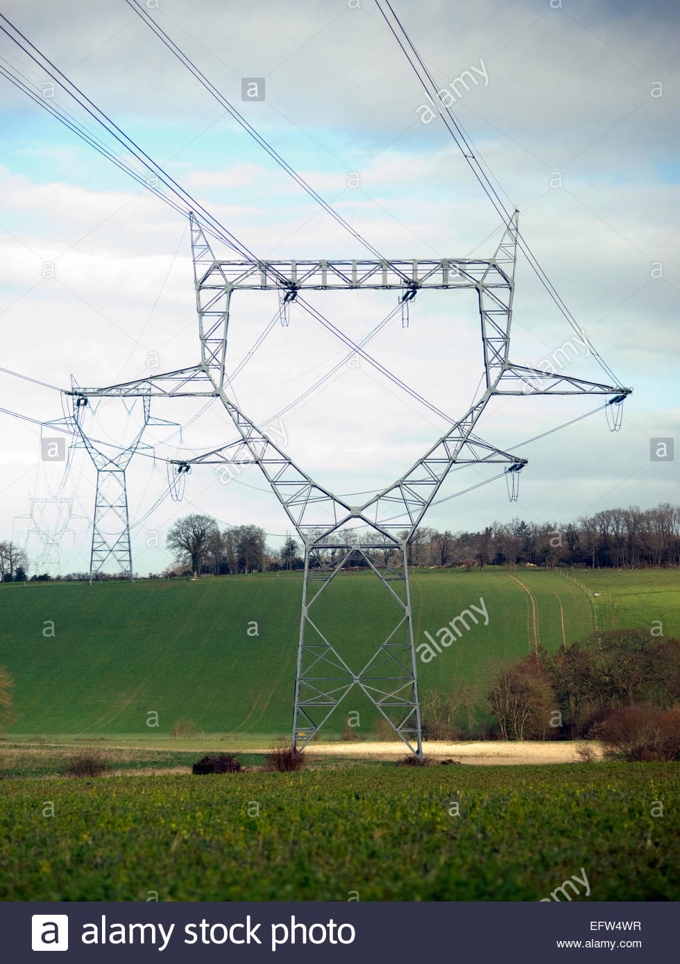 Electricity Pylon Electric Grid Wiring Metal Structure ... on