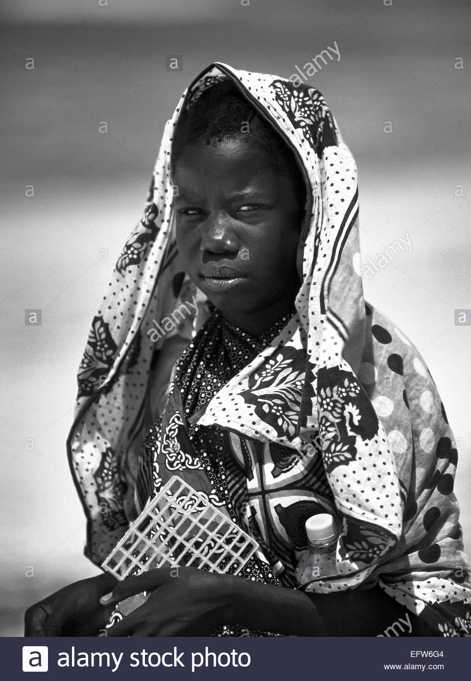 Kenya - Republic of Kenya Africa 2000 Mombasa Beach People Person Child Kids Children Head And Shoulders Headshot Stock Photo