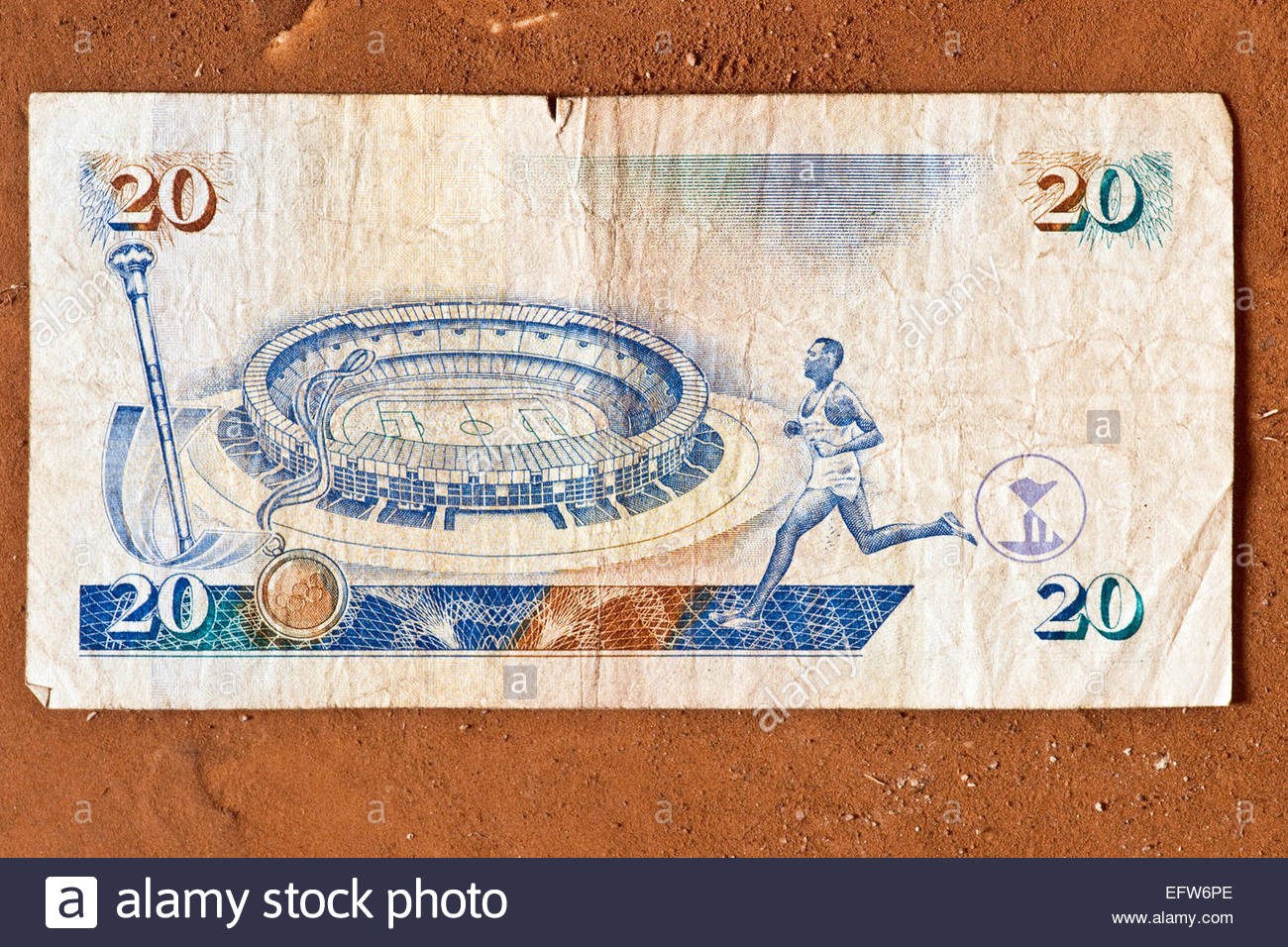 African Money Cash Currency Studio Shot Nobody Banknotes Paper 2000 Stock Photo
