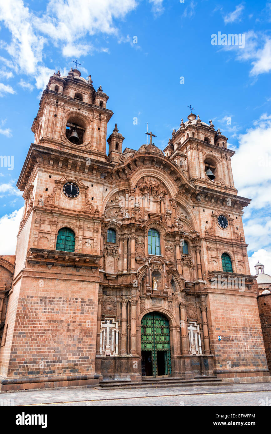 Church of the Society of Jesus on the Plaza de Armas in Cusco, Peru Stock Photo