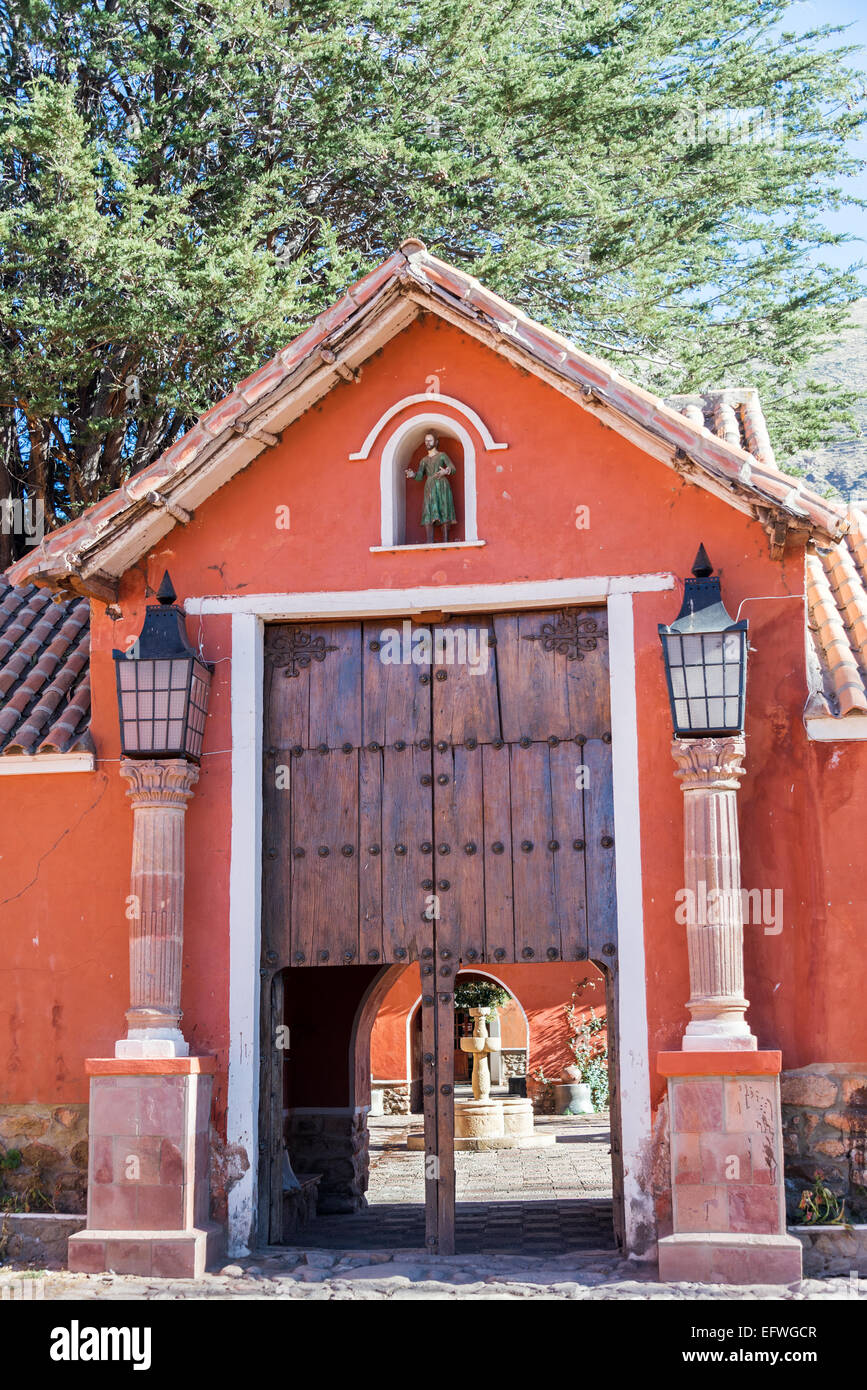 Historic hacienda in rural Bolivia near the city of Potosi - Stock Image