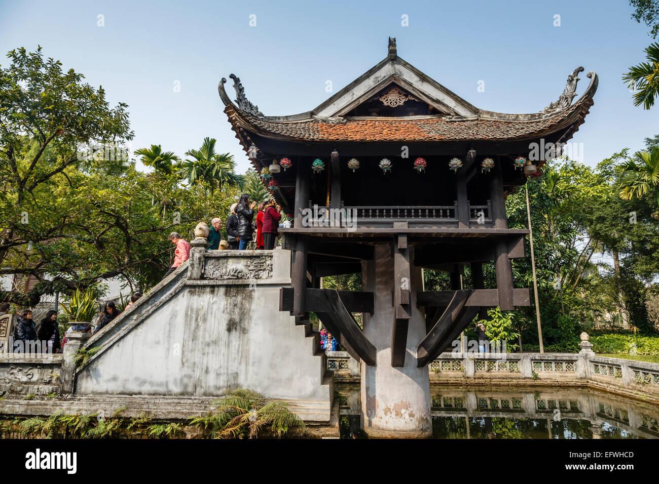 One Pillar Pagoda (Chua Mot Cot), Hanoi, Vietnam. Stock Photo