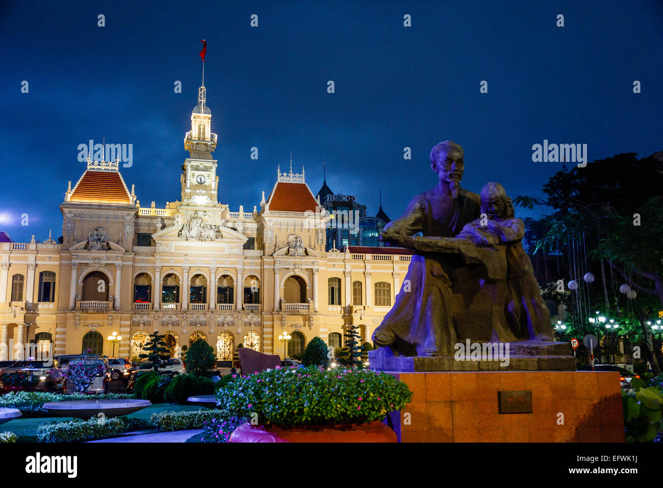 Saigon City Hall building, Ho Chi Minh City (Saigon), Vietnam. - Stock Image