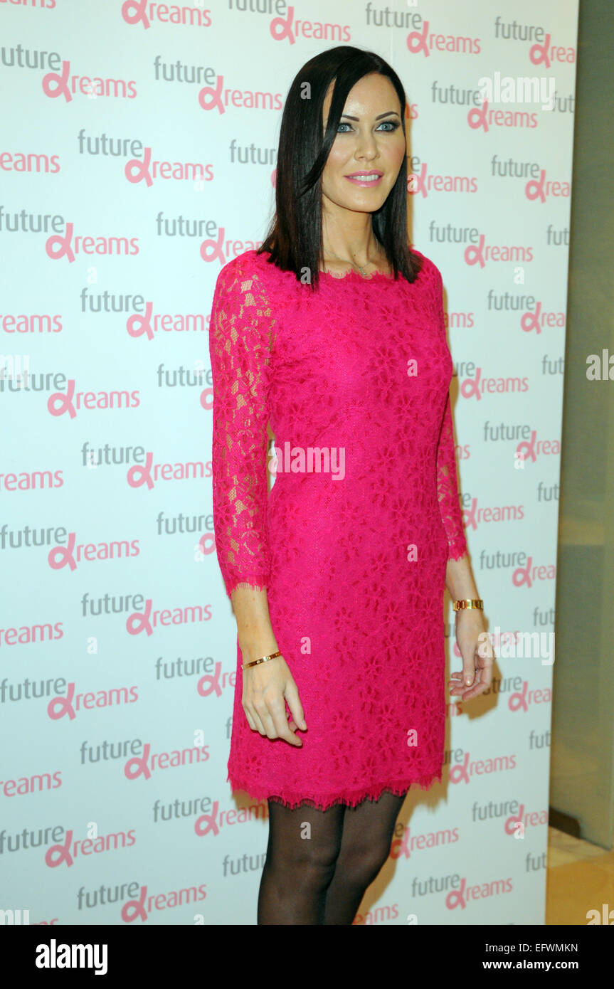 London, UK, 10 February 2015, Linzi Stoppard attends Melissa Odabash for Future Dreams launch party at Fenwicks - Stock Image
