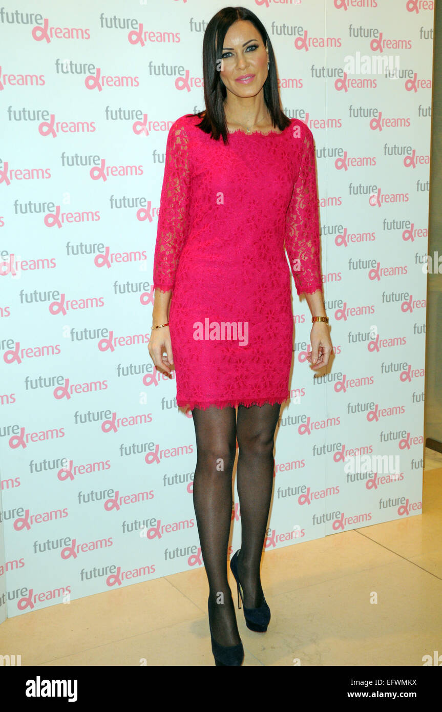 London, UK, 10 February 2015, Linzi Stoppard attends Melissa Odabash for Future Dreams launch party at Fenwicks Stock Photo