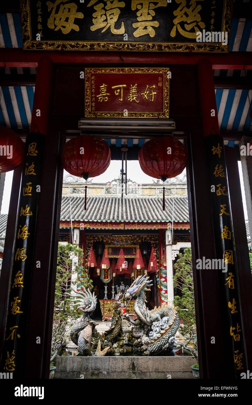 Cantonese Assembly Hall (Quang Trieu), Hoi An, Vietnam. - Stock Image