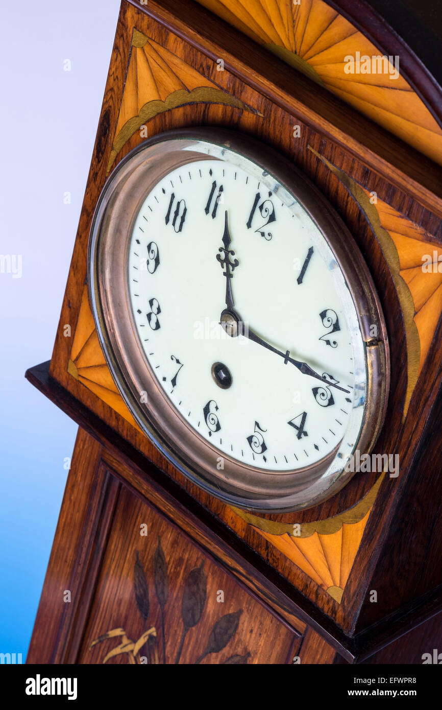 The old clock, a studio photograph. - Stock Image