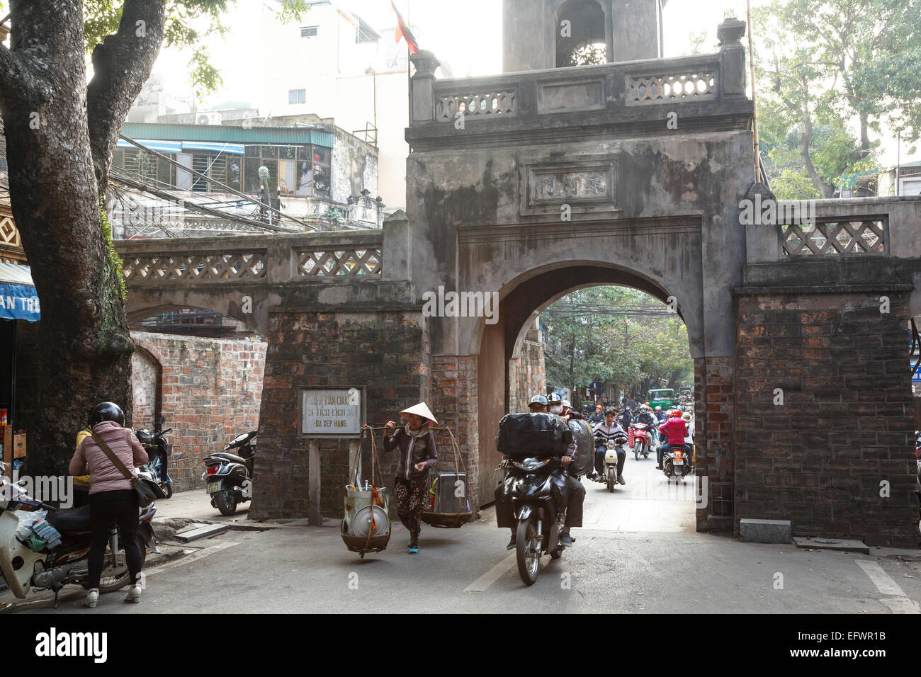 Gate to the old quarter, Hanoi, Vietnam. - Stock Image
