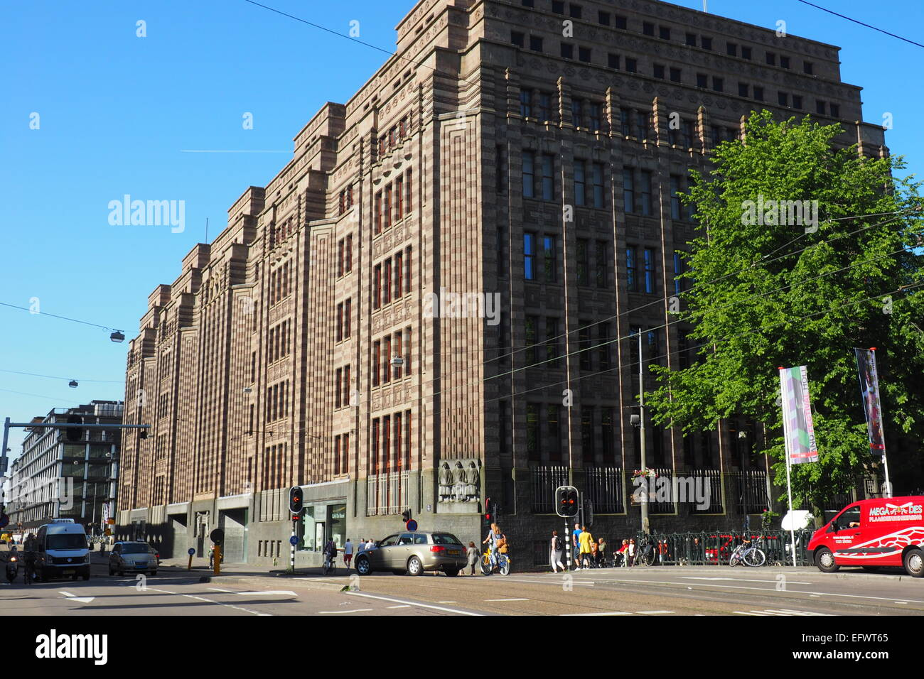 De Bazel Building housing the Amsterdam City Archives in Amsterdam. - Stock Image
