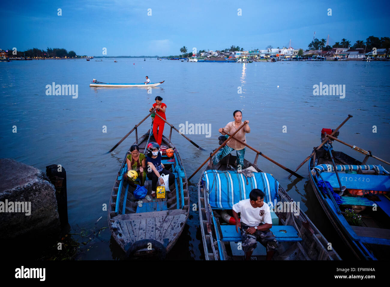 Boats at the Mekong Delta, Can Tho, Vietnam - Stock Image