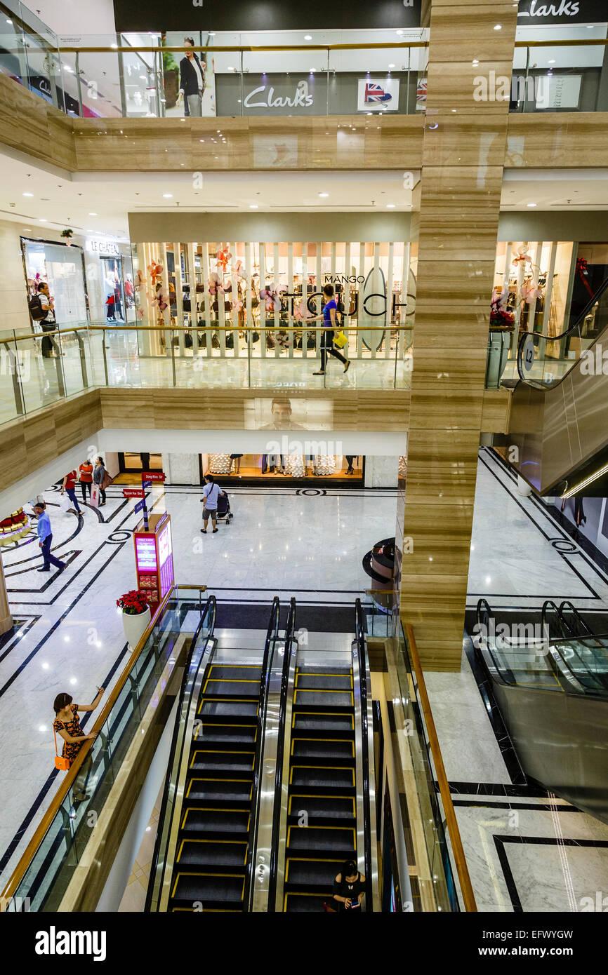 Vincom Center shopping mall, Ho Chi Minh City (Saigon), Vietnam. - Stock Image