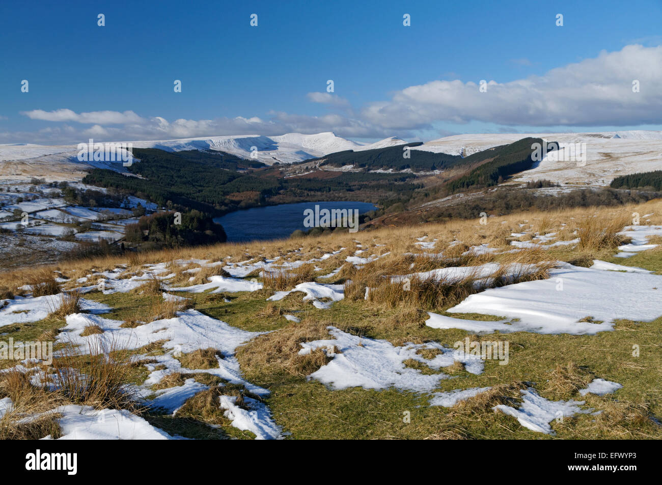 Taf Fechan Reservoirs, Brecon Beacons National Park, Powys, Wales, UK. Stock Photo