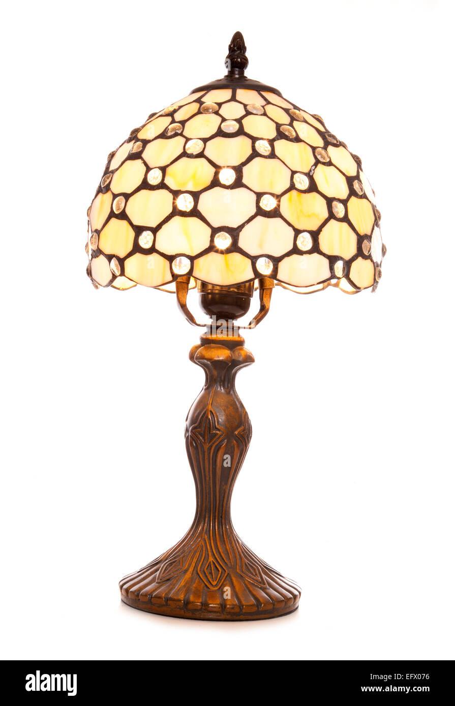 Vintage Style Table Lamp White Background Stock Photo 78632266 Alamy
