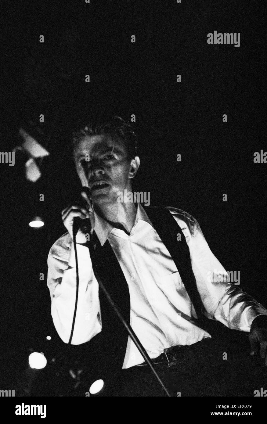 David Bowie in concert on the Sound & Vision Tour in 1990 Italy Stock Photo