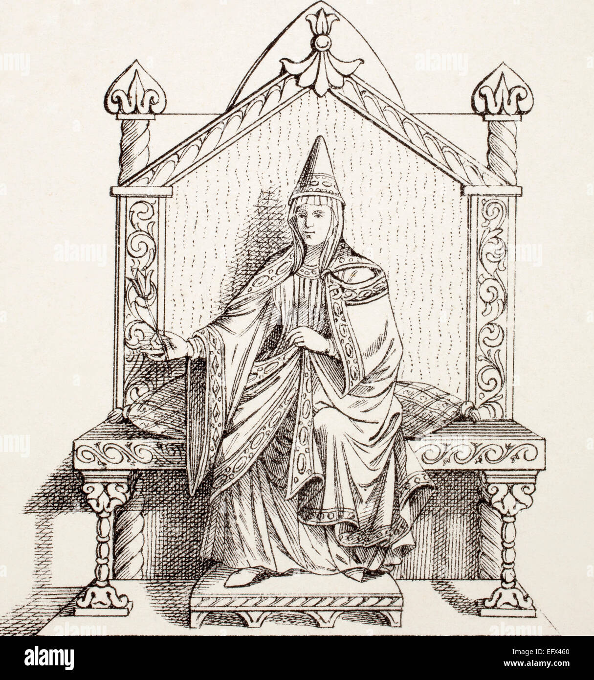 Matilda of Tuscany, 1046 – 1115.  Italian noblewoman, daughter of Boniface III, supporter of Pope Gregory VII during - Stock Image