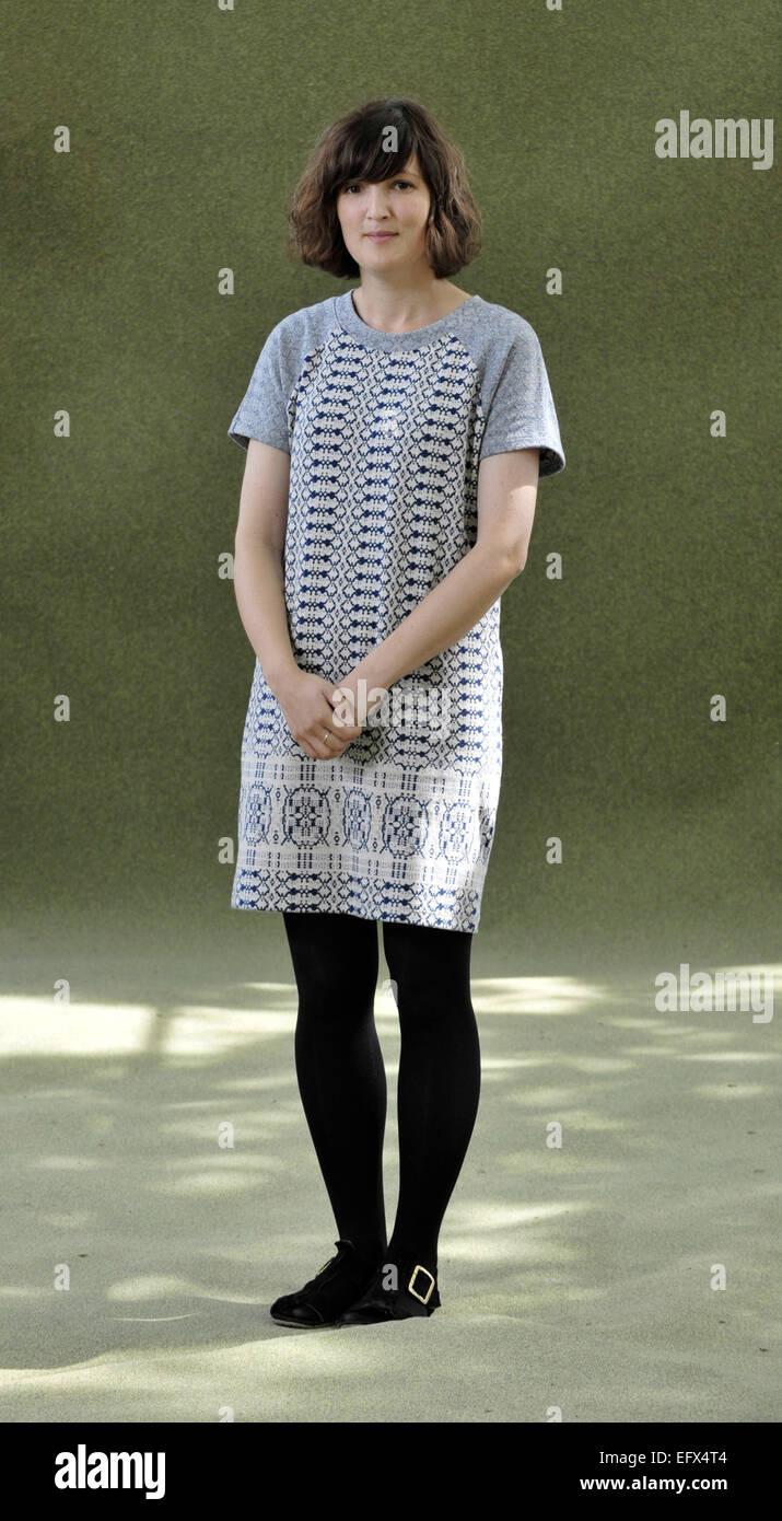 Blogger Katie Green (wearing cardigan) and writer Matilda Tristram attend the Edinburgh International Book Festival Stock Photo