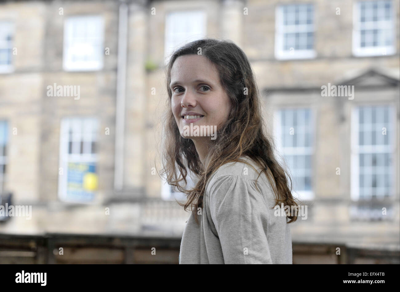 Blogger Katie Green (wearing cardigan) and writer Matilda Tristram attend the Edinburgh International Book Festival Stock Photo