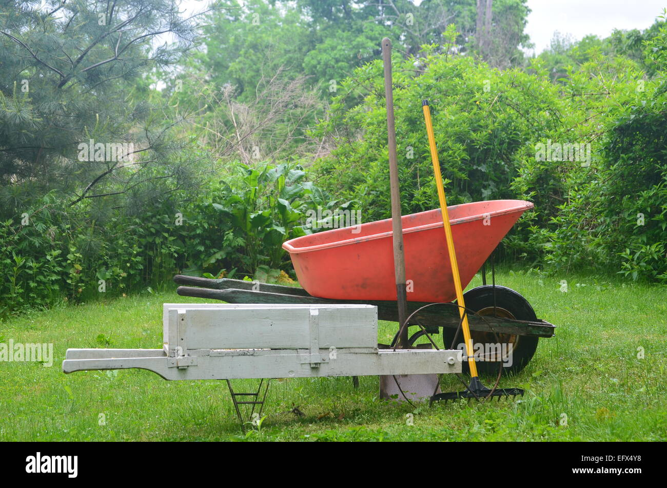 Wheelbarrows Stock Photo