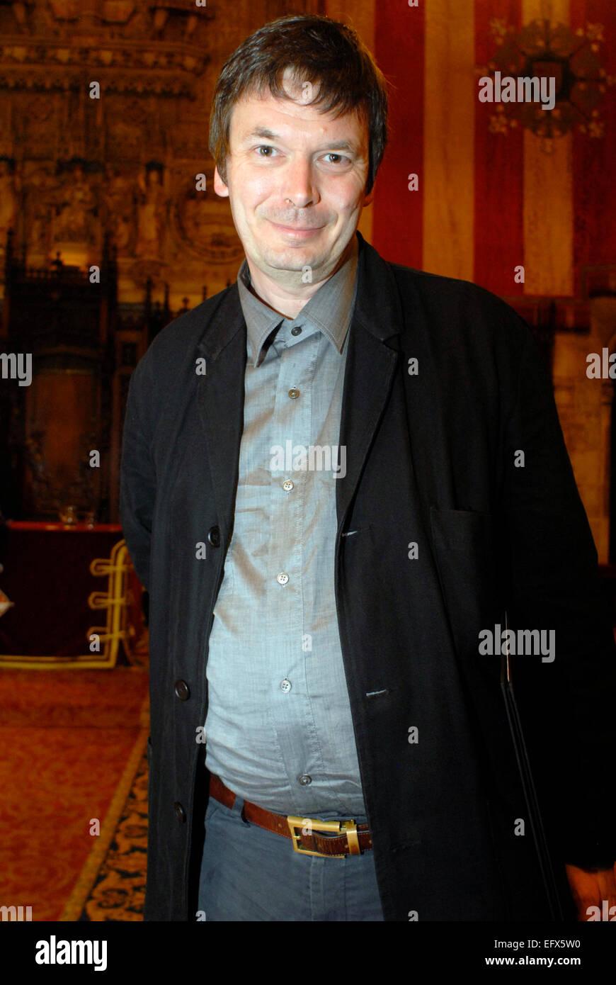 Portrait, Ian Rankin, Scottish, British Author and Writer, Prize in Barcelona. - Stock Image