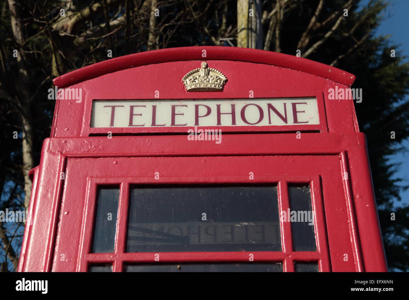 British iconic red telephone box - Stock Image