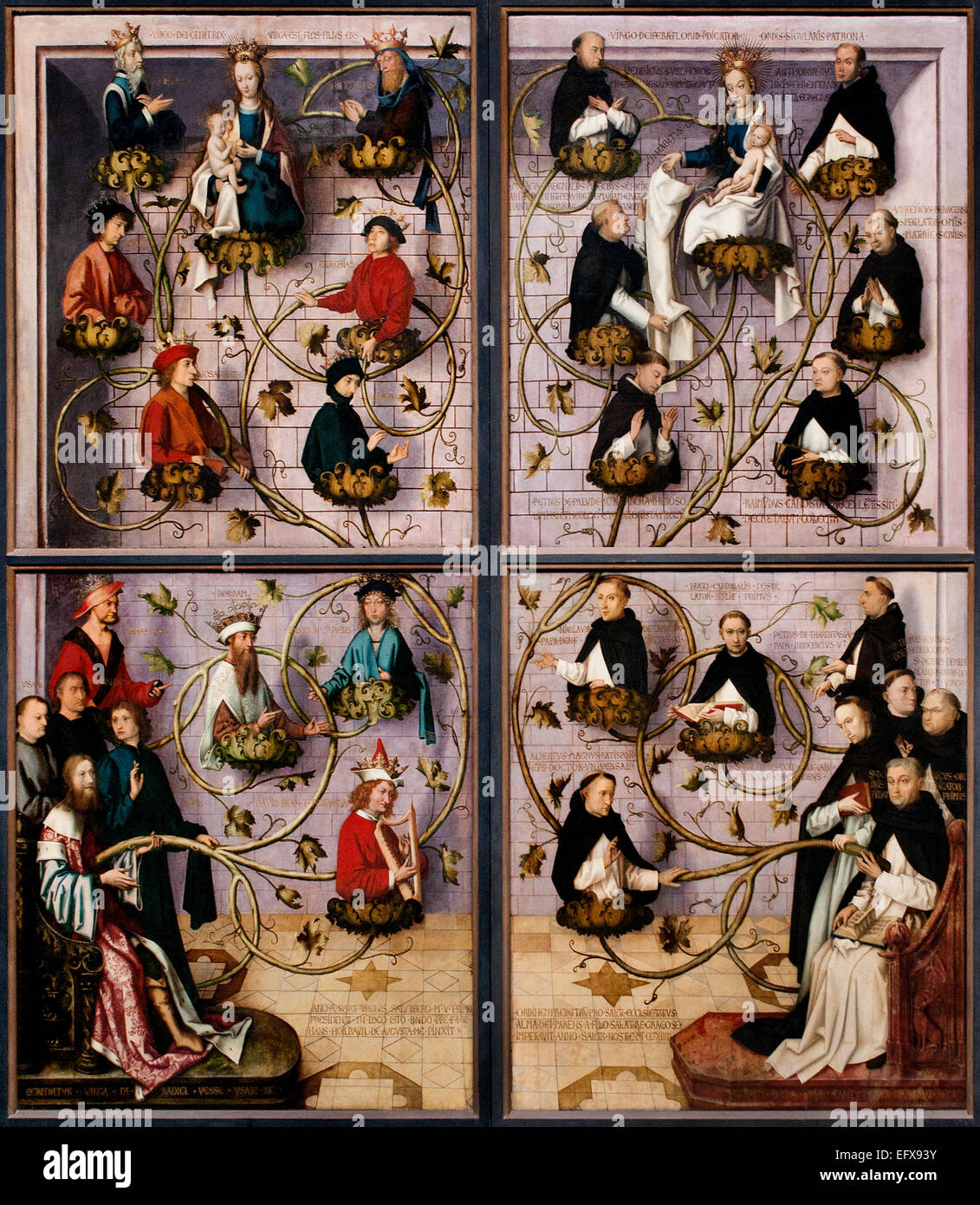 Exterior Wings of the Frankfurt Dominican Altarpiece by  Holbein Hans the Elder (1460/65-1524) German Germany - Stock Image