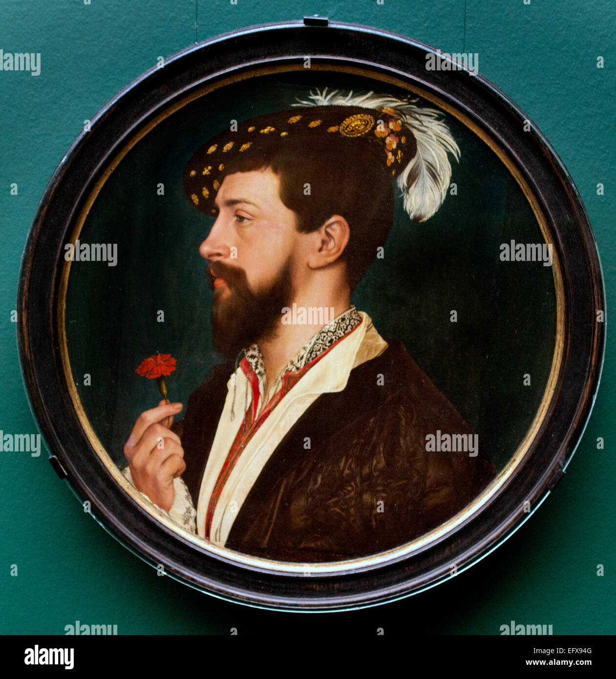 PORTRAIT OF SIMON GEORGE OF CORNWALL 1535–40  HANS HOLBEIN THE YOUNGER  1497 - 1543   German Germany - Stock Image