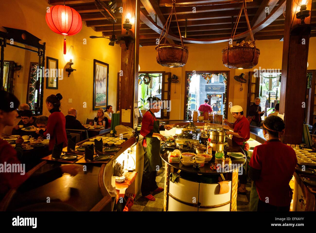 Morning Glory restaurant, Hoi An, Vietnam. - Stock Image