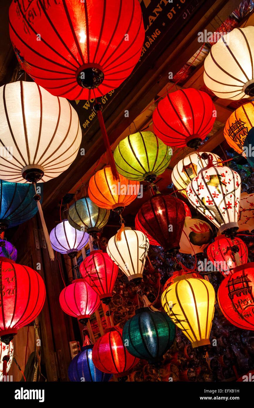 Traditional silk lanterns, Hoi An, Vietnam. - Stock Image