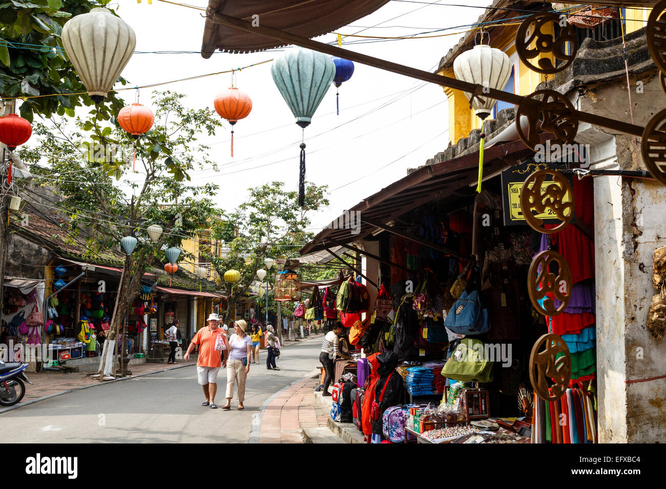 street scene, Hoi An, Vietnam. - Stock Image