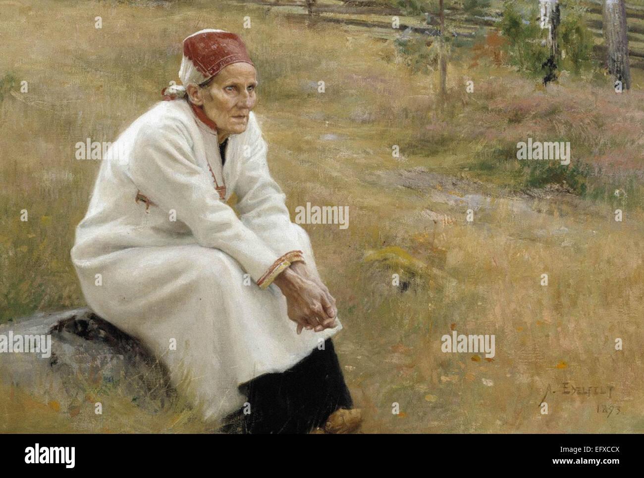 Albert Edelfelt  Larin Paraske - Stock Image