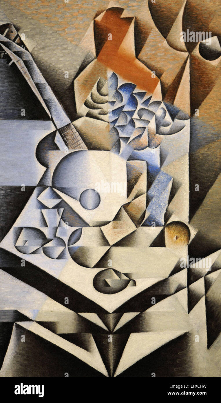 Juan Gris  Still Life with Flowers - Stock Image