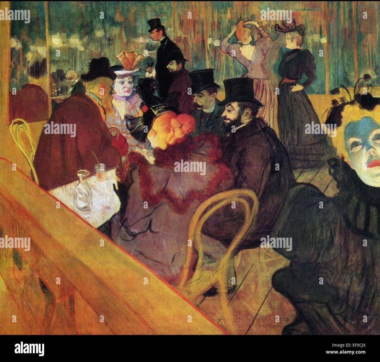 Henri Marie Raymond de Toulouse-Lautrec  At the Moulin Rouge - Stock Image