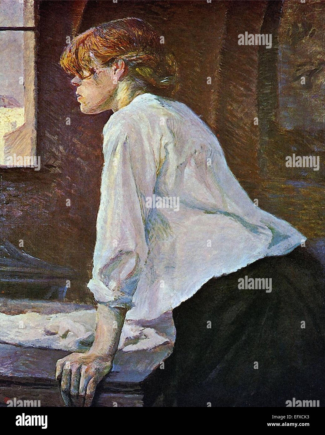 Henri Marie Raymond de Toulouse-Lautrec  The Laundress - Stock Image