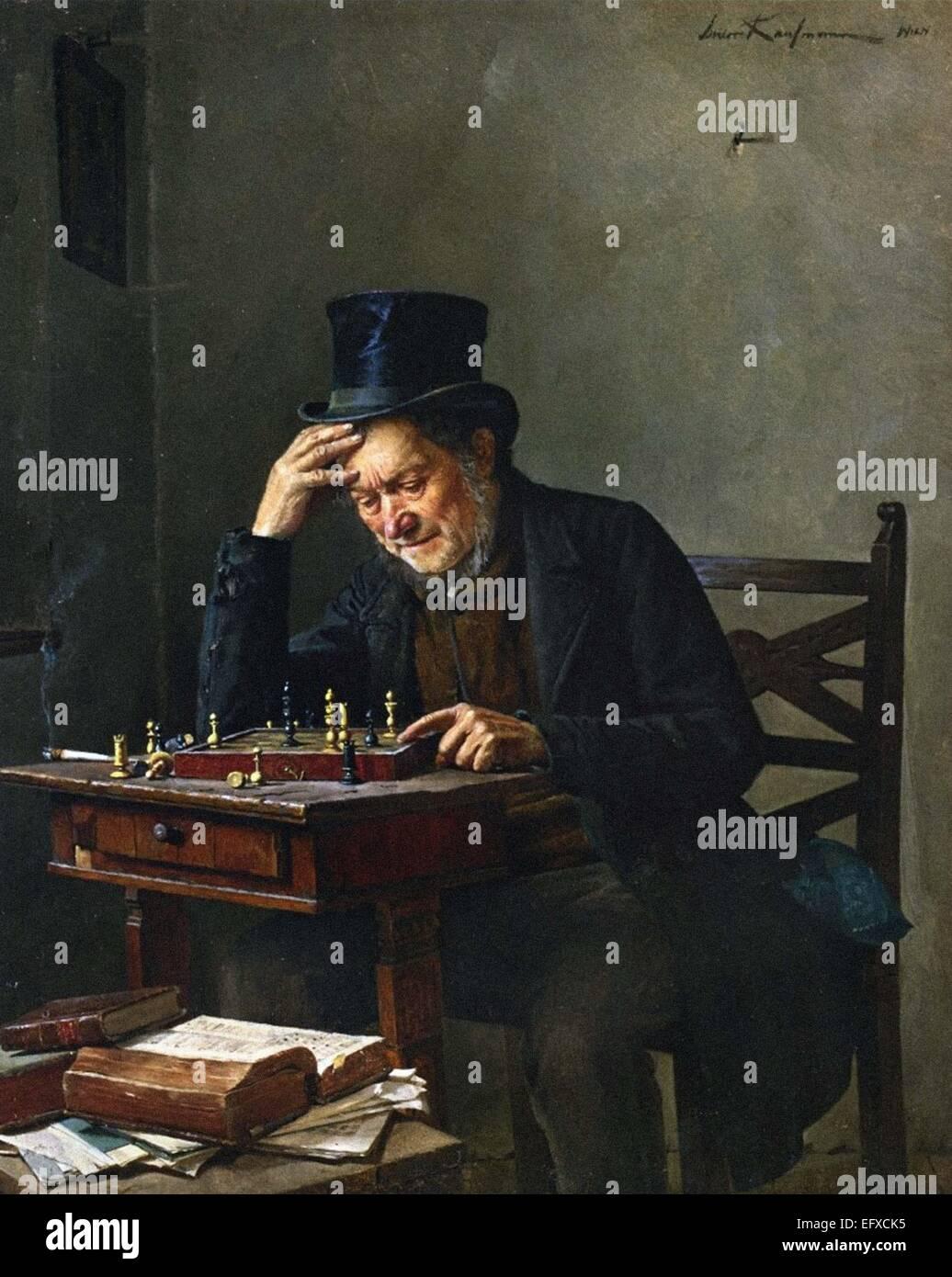 Isidor Kaufmann  The Chess Player - Stock Image